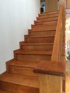 American Cherry Craftsman Style Staircase Finished With Pallmanu0027 Magic Oil.  Contact Us For This