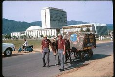 Islamabad, Pakistan | European 'Earthwalkers' in Islamabad, 1973. They had arrived in the Pakistan capital to raise awareness about environmental issues.