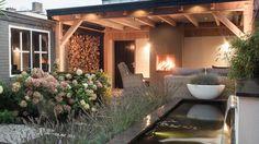 Enjoy beautiful lasting evenings in your green area upwards which veranda by the stove. Small Gardens, Outdoor Gardens, Outdoor Rooms, Outdoor Living, Townhouse Garden, Porch Veranda, Porche, Outside Living, Interior Exterior