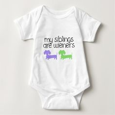 My Siblings are Wieners | 2 Dachshunds design