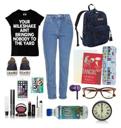 """""""I Hate School"""" by leroyy1998 ❤ liked on Polyvore featuring Topshop, Bobbi Brown Cosmetics, JanSport, Converse, Harrods, Beats by Dr. Dre and Ray-Ban"""