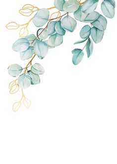 Shop Elegant Teal and Gold Eucalyptus Wedding Invite created by Laurellanepaperie. Watercolor Flower Background, Flower Background Wallpaper, Pastel Wallpaper, Flower Backgrounds, Wallpaper Backgrounds, Watercolor Art, Iphone Wallpaper, Watercolor Wallpaper, Wreath Watercolor