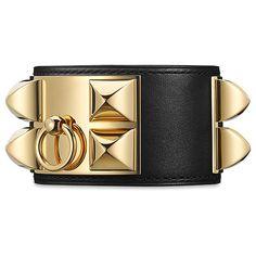 Hermès Collier De Chien Bracelet (3,740 PEN) ❤ liked on Polyvore featuring jewelry, bracelets, bracelet jewelry, bracelet bangle, leather bracelet jewelry, genuine leather bracelet and leather jewelry