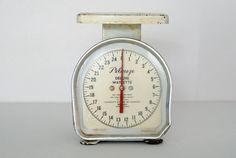 Vintage Kitchen Scale White Paint MidCentury by SongbyrdVintage, $35.00