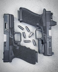 The Agency Arms Glock Urban Combat complete pistol build includes a full work-up on the slide, frame, and trigger. The Urban . Glock Guns, Weapons Guns, 9 Mm, Agency Arms, Concealed Carry, Tactical Gear, Shotgun, Firearms, Hand Guns