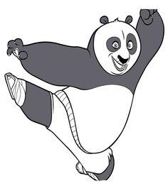 Kung Fu Panda Tegninger til Farvelægning. Printbare Farvelægning for børn. Tegninger til udskriv og farve nº 49