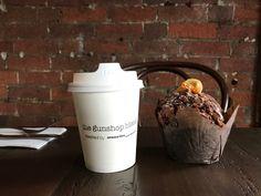Coffee muffin Brisbane Cafe, Coffee Muffins, Cafe Food, Mugs, Tableware, Dinnerware, Tumblers, Tablewares, Mug
