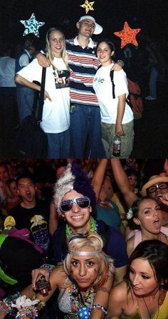 90s rave kids vs rave kids today.