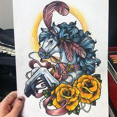 circus horse tattoo - wonderful!