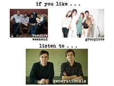 if you like vampire weekend or grouplove...listen to generationals