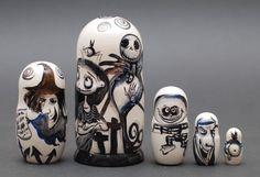 Matryoshka nesting doll Nightmare before Christmas Free worldwide sh | ArtMatryoshka - Toys & Hobbies on ArtFire