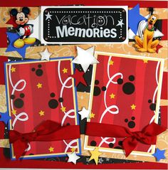 cute boy scrapbook ideas | 12 x 12 Premade Scrapbook Layout Boy or Girl -- Disney Vacation ...