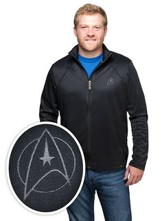 Bring it with you to the movie theater. You never know how cold they're going to be. Hang it on the back of your chair at your desk, just in case. Better yet, toss it in your landing party's bag to cover up that red shirt. Just to be safe. Star Trek Gifts, Sexy Geek, Retro Futuristic, Geek Gifts, Red Shirt, New Movies, Just In Case, Fashion Models, Geek Stuff
