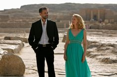 i will own this dress from cairo time. patricia clarkson is stunning.