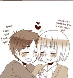 People just need more Eren and Armin in their life♡♡ Random Attack On Titan Funny, Attack On Titan Ships, Attack On Titan Anime, Eren X Armin, Aot Characters, Fanart, Black Butler Anime, A Silent Voice, Titans Anime