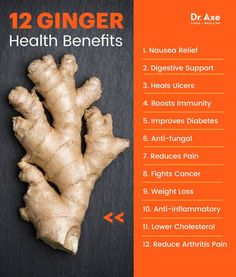 Ginger Benefits, Uses, Nutrition and Side Effects Dr Axe is part of Health benefits of ginger - The health benefits of ginger and ginger root extend to fighting cancer to better brain function Learn how to use ginger in recipes and Health Benefits Of Ginger, Benefits Of Coconut Oil, Benifits Of Ginger, Benefits Of Ginger Water, Benefits Of Garlic, Tumeric Benefits, Cinnamon Benefits, Cucumber Benefits, Fruit Benefits