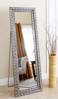 Bassett Mirror Company Gold-Silver Leaf Floor Mirror | Floor mirror ...