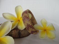 Handwoven Hawaiian Lauhala Bracelet - Chevron