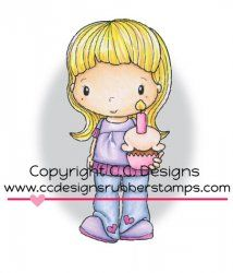 C.C. Designs Swiss Pixie Birthday Birgitta Rubber Stamp