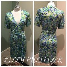 Lilly Pulitzer Dresses & Skirts - LILLY PULITIZER blue & green wrap dress