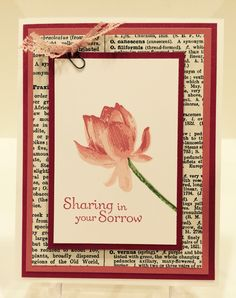 Stampin' Up! Lotus Blossom & Thoughts & Prayers Sympathy MissyJ 2015