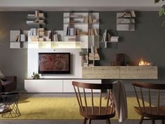 Floating bookcase MOVIDA - Olivieri
