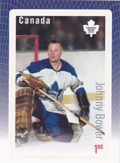Canada Stamp Johnny Bower Toronto Maple Leafs,Hockey Great Canadian Goalies