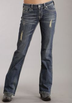 Clothing, Shoes & Jewelry > Women > Clothing > Pants > Stetson Women's 816 Fit Medium Wash Thick Contrast Top Stitch Blue 10 Get Price Cl. Cowgirl Outfits, Western Outfits, Cowgirl Clothing, Country Style Outfits, Country Chic, Country Life, Cool Outfits, Casual Outfits, Casual Clothes