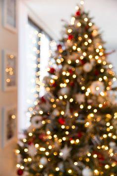 Holiday Home Tour - Christmas Tree Bokeh