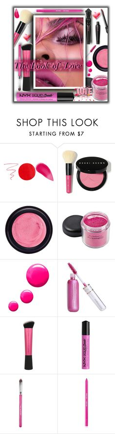 """""""The Look of Love   Deep Pink (new contest please read description)"""" by fassionista ❤ liked on Polyvore featuring beauty, Kevyn Aucoin, Anna Sui, Bobbi Brown Cosmetics, Real Purity, Topshop, NYX, Sigma, makeup and beautyset"""