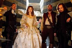 Luke Evans, Milla Jovovich, Ray Stevenson and Matthew Macfadyen in The Three Musketeers (2011) Movie Image
