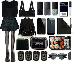 """I wear too much black"" by baludna ❤ liked on Polyvore"