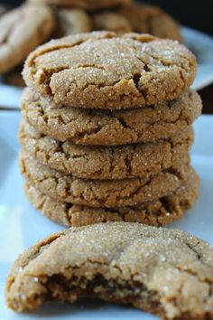 When is the last time you had some soft chewy molasses cookies? These cookies are just that. soft, chewy and delicious! So soft, so chewy, so delicious! Holiday Baking, Christmas Baking, Christmas Cookies, Christmas Christmas, Christmas Treats, Yummy Cookies, Yummy Treats, Freezable Cookies, Just Desserts