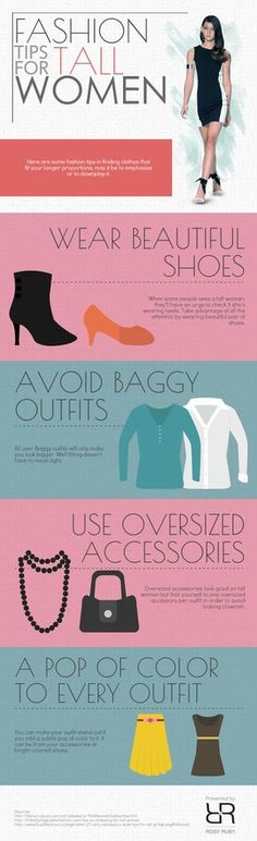 Fashion Tips for Tall Women #infographic #Fashion #Lifestyle