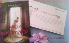 Recebi este kit lindo... com convite, livro e Bem-casado da @EssenciaLivros - A festa de casamento - Patricia Scanlan