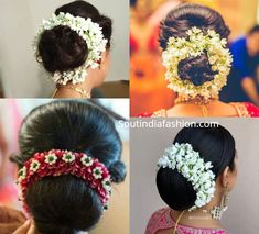 Top 10 South Indian Bridal Hairstyles For Weddings, Engagement etc. Arabic Hairstyles, Indian Bun Hairstyles, Bridal Hairstyle Indian Wedding, Bollywood Hairstyles, Hairstyles For Gowns, South Indian Bride Hairstyle, Indian Wedding Gowns, Bridal Hair Buns, Elegant Hairstyles