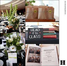 School themed wedding Table ideas