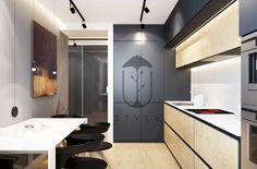 На кухне все организовано просто и понятно. Здесь быстро сориентируется не только холостяк, но и его гости.