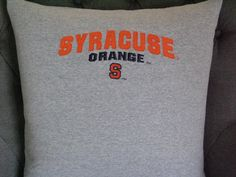 Syracuse University T Shirt Throw Pillow by ThePastureRoad on Etsy
