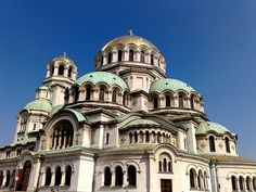 The magnificent cathedral of St. Alexander Nevski in Sofia, Bulgaria - the biggest orthodox cathedral in the world. It is approx 18 stories high .