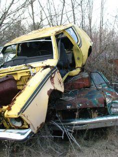 Junkyard 1973 AMC Gremlin (and 1974 Ford Pinto)