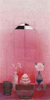 Morris Graves - Red Powder Of Puja 1980 Famous Black Artists, Color Magic, Light Of Life, First Art, Cool Artwork, Flower Art, Still Life, Photo Art, Contemporary Art