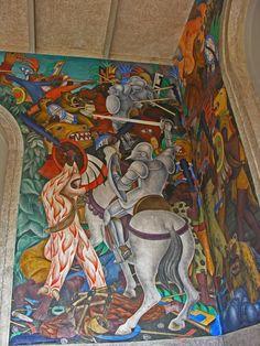 Diego Rivera murals at Cuernavaca's Palacio de Cortés, Mexico