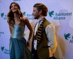 Super Model Giselle Bundchen & designer Jeff Garner wearing Prophetik at the Rainforest Alliance