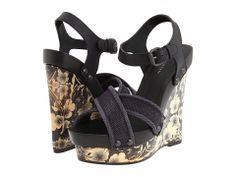 Bottega Veneta Wedge Sandals in Black (n) | Lyst