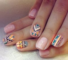Tribal patterned nails. They r so awesome