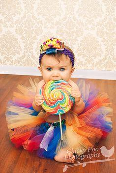#rainbow #tutu Chicky Poo Photography