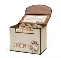 Recipe box idea from #CTMH, for information about this and any CTMH products please visit my website www.memorieswithmusick.ctmh.com