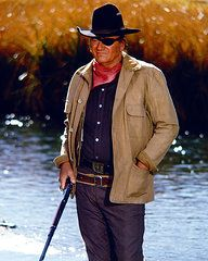 John Wayne encadrées - John Wayne dans Rooster Cogburn copie encadrée par Silver Screen