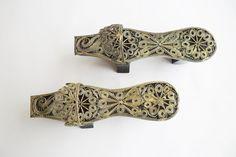 Vintage Miniature Nalin Turkish Bath Slippers Shoes, hamam clogs,Turkish Wood, $25.00 #LetsCurate
